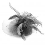 Grey Fascinator Jessie - FAS090
